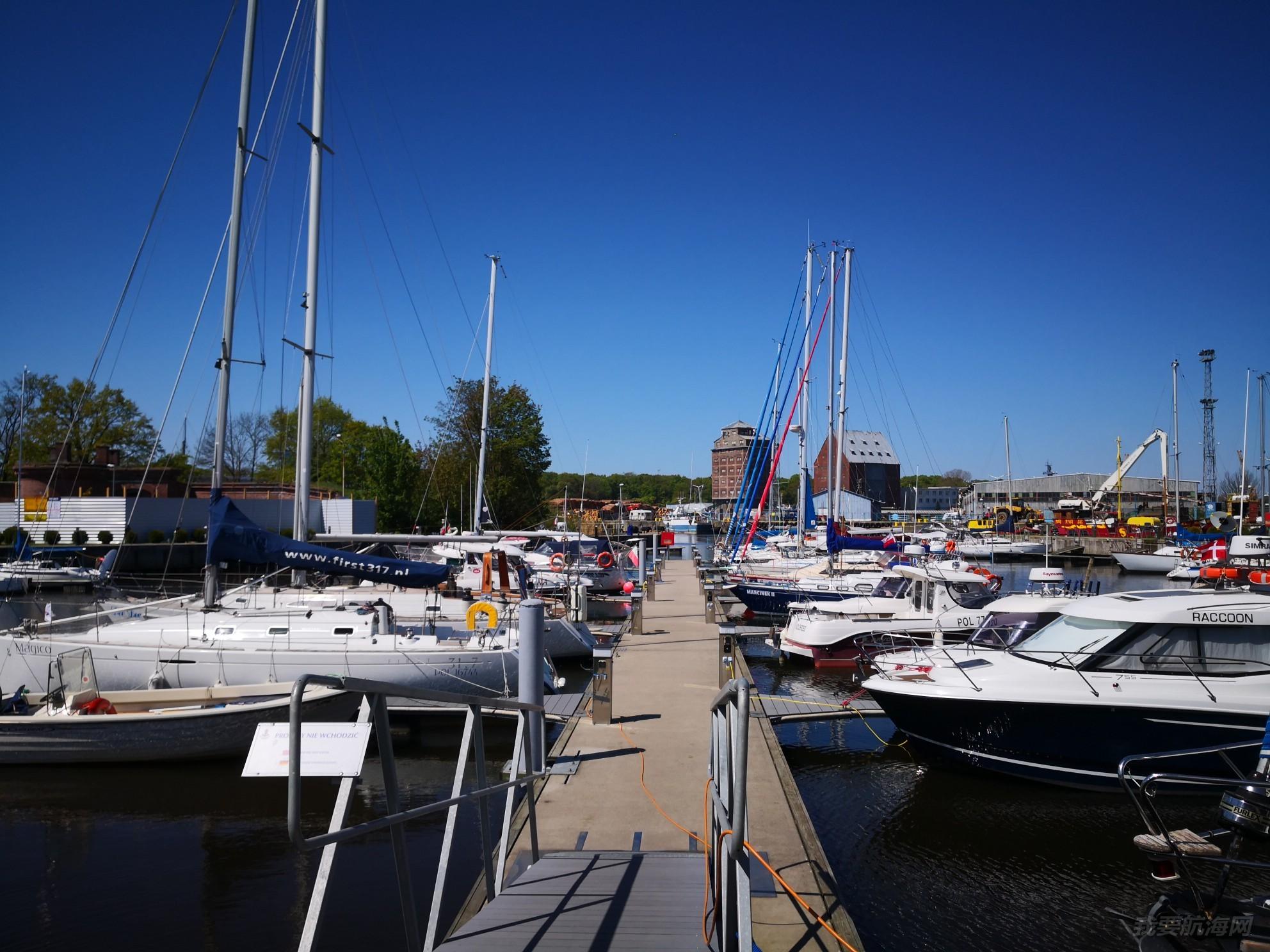 帆船港见闻之波兰北部波罗的海沿岸城市KOLOBRZEG 的SOLNA 帆船港。