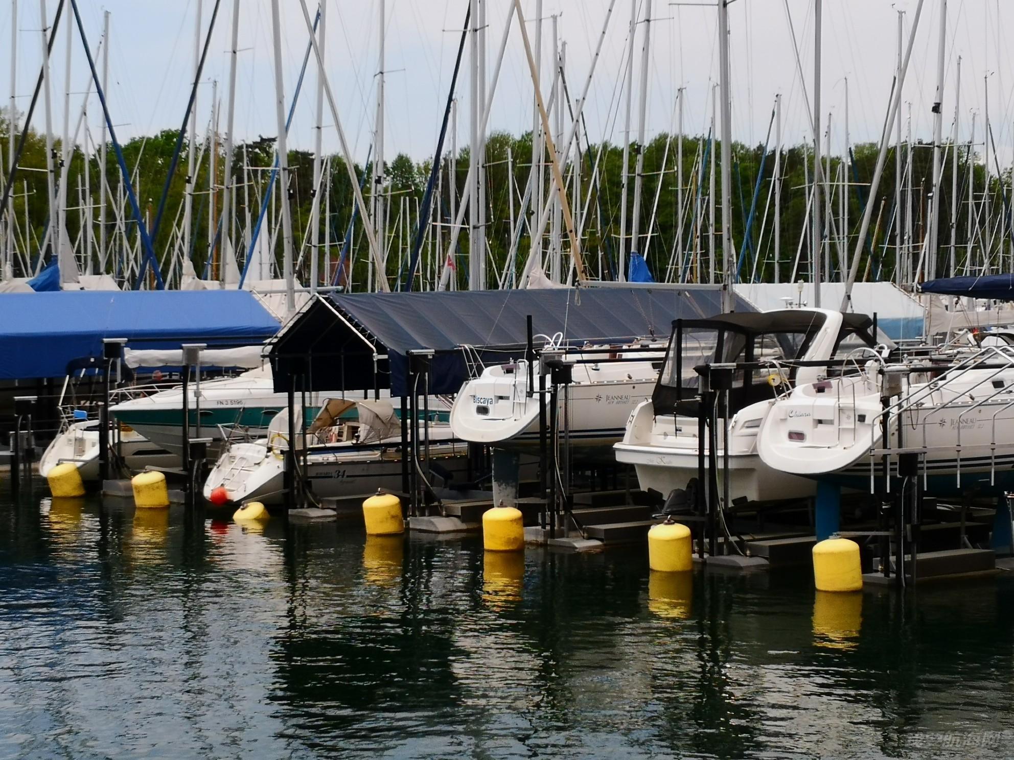 帆船港见闻之德国瑞士边界博登湖畔LINDAU市帆船港