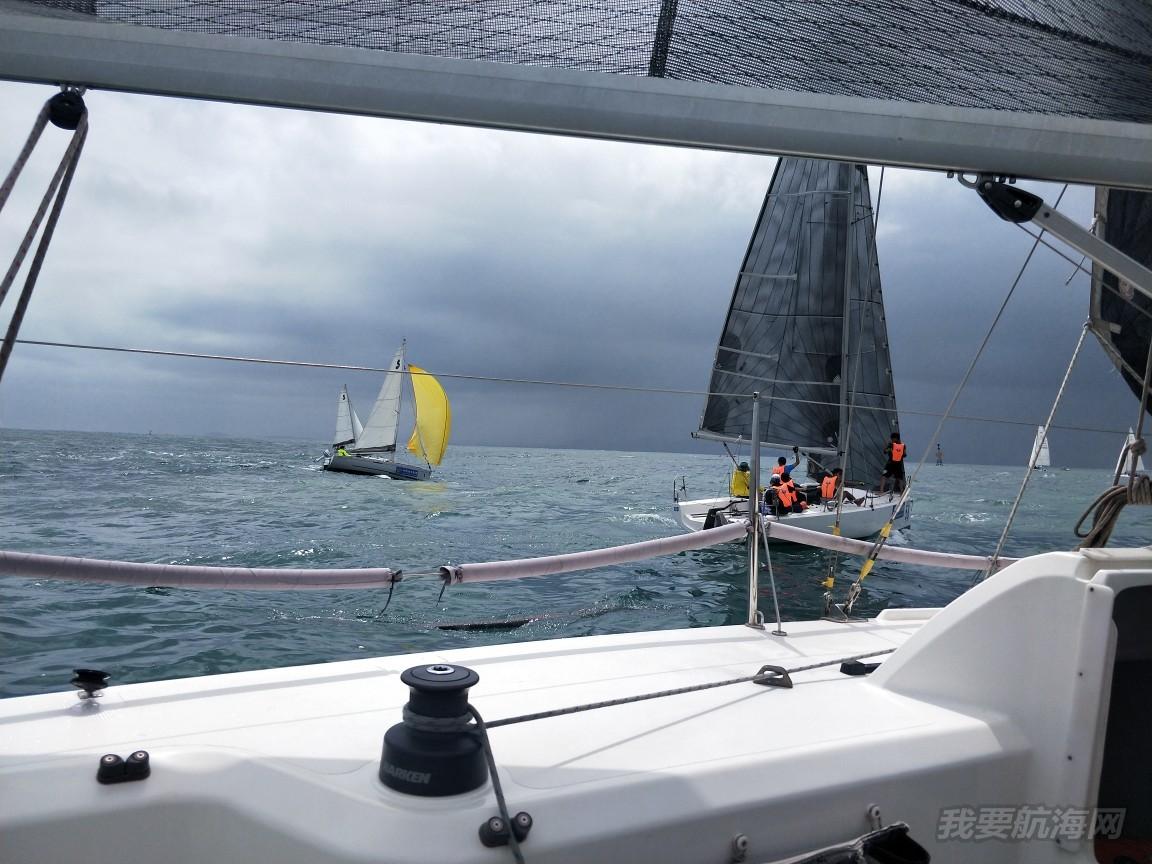 第一次参加2018青岛国际帆船赛竞赛