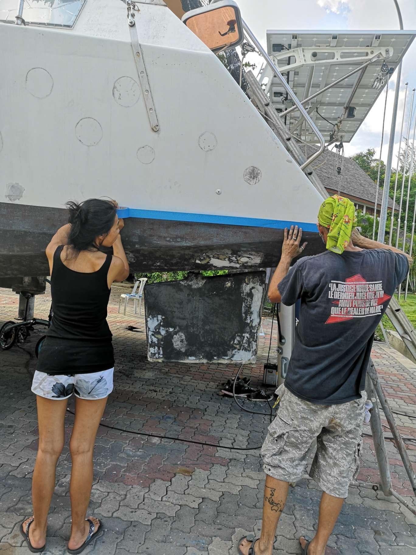 飞鱼号双体帆船环球航海15--上船了之为什么要做防腐